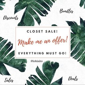 Other - Clear out sales! Everything must go!